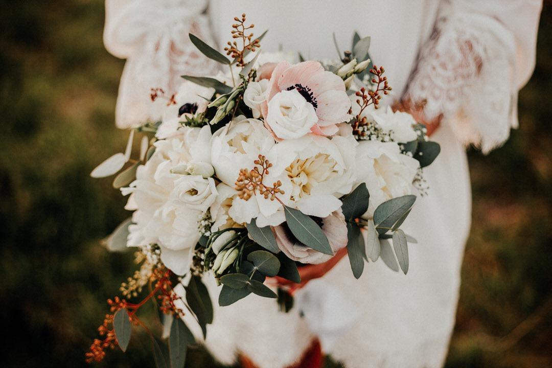 Inspiration für einen Boho-Brautstrauß