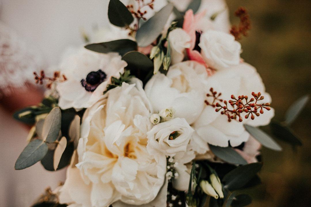 Bohemian Bridal Bouquet, ein Boho Brautstrauss in wunderschönen weiß-und grüntönen