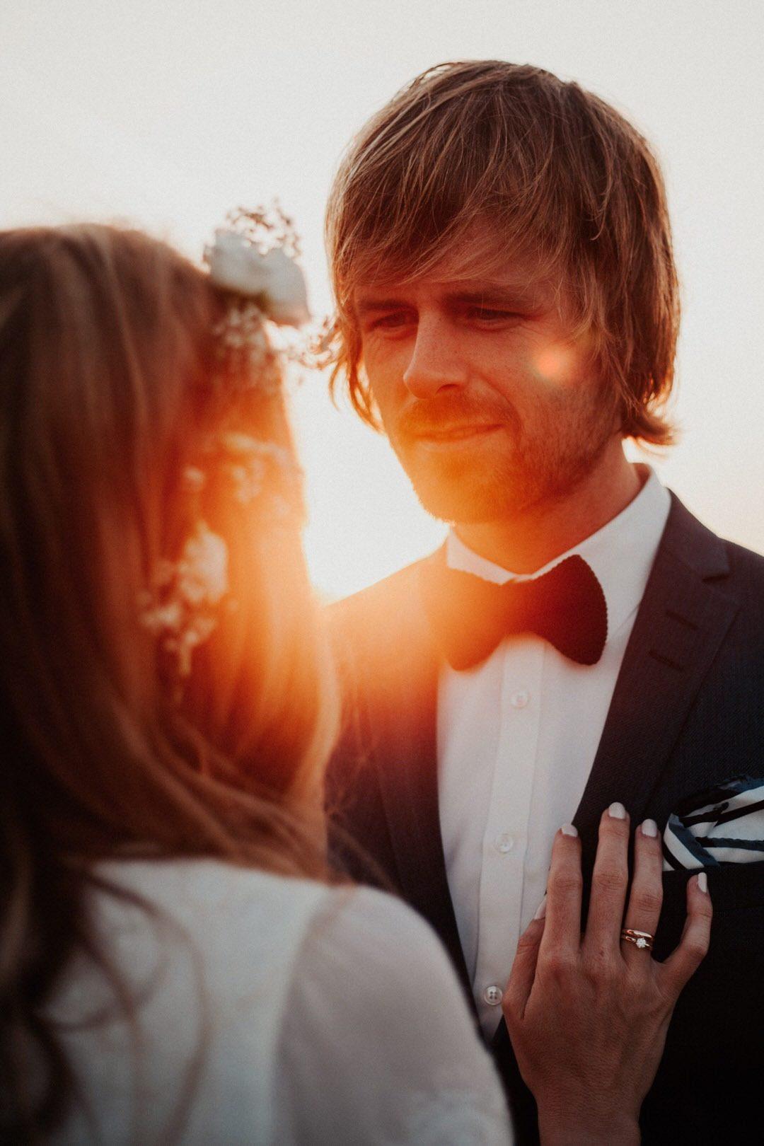 Das beste Licht für Hochzeitsfotos ist immer noch das warme abendliche Sonnenlicht