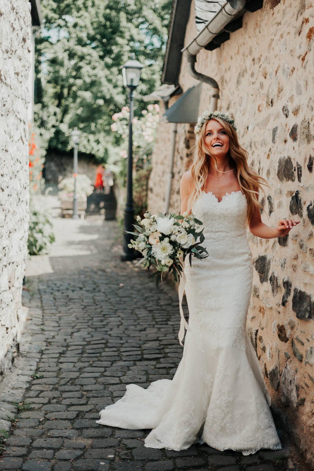 Stilvolle Boho-Braut in der Altstadt