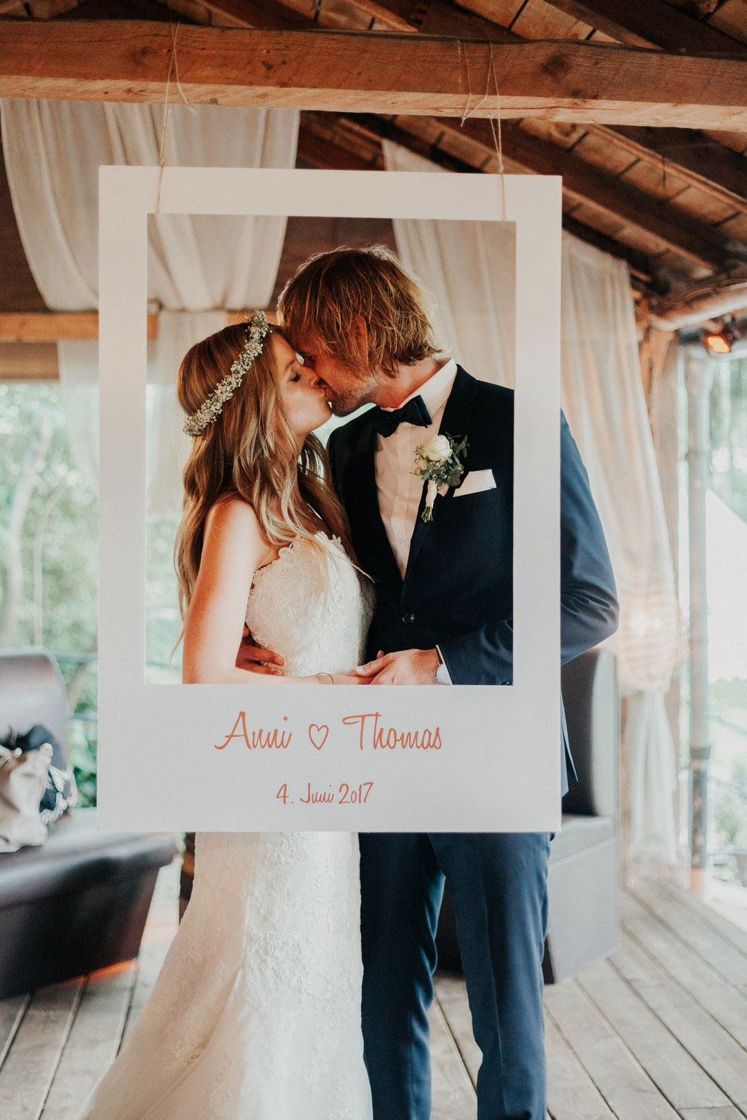 Vintage- und Boho Photobooth im Polaroid Stil Inspiration für Hochzeiten