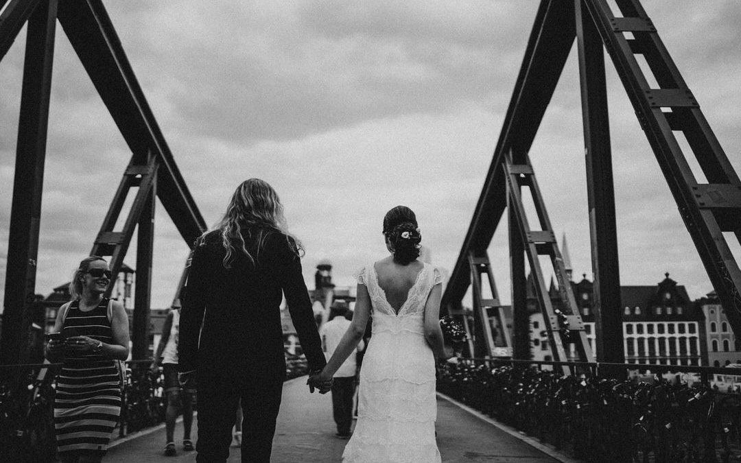 Außergewöhnliche Boho-Hochzeit in Frankfurt