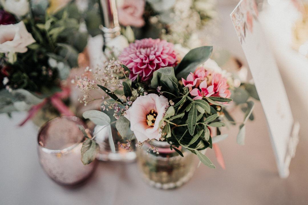 Fotos von der Vintage Tischdekoration bei einer italienischen Hochzeit in Gießen