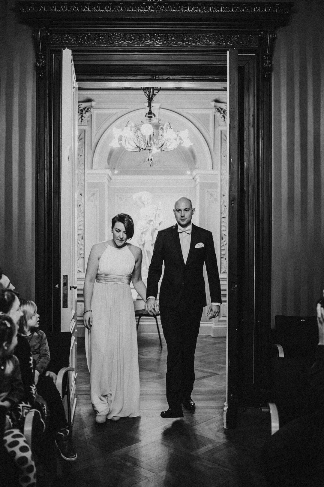 Einmarsch des Brautpaars in der Villa Clementine, Wiesbaden