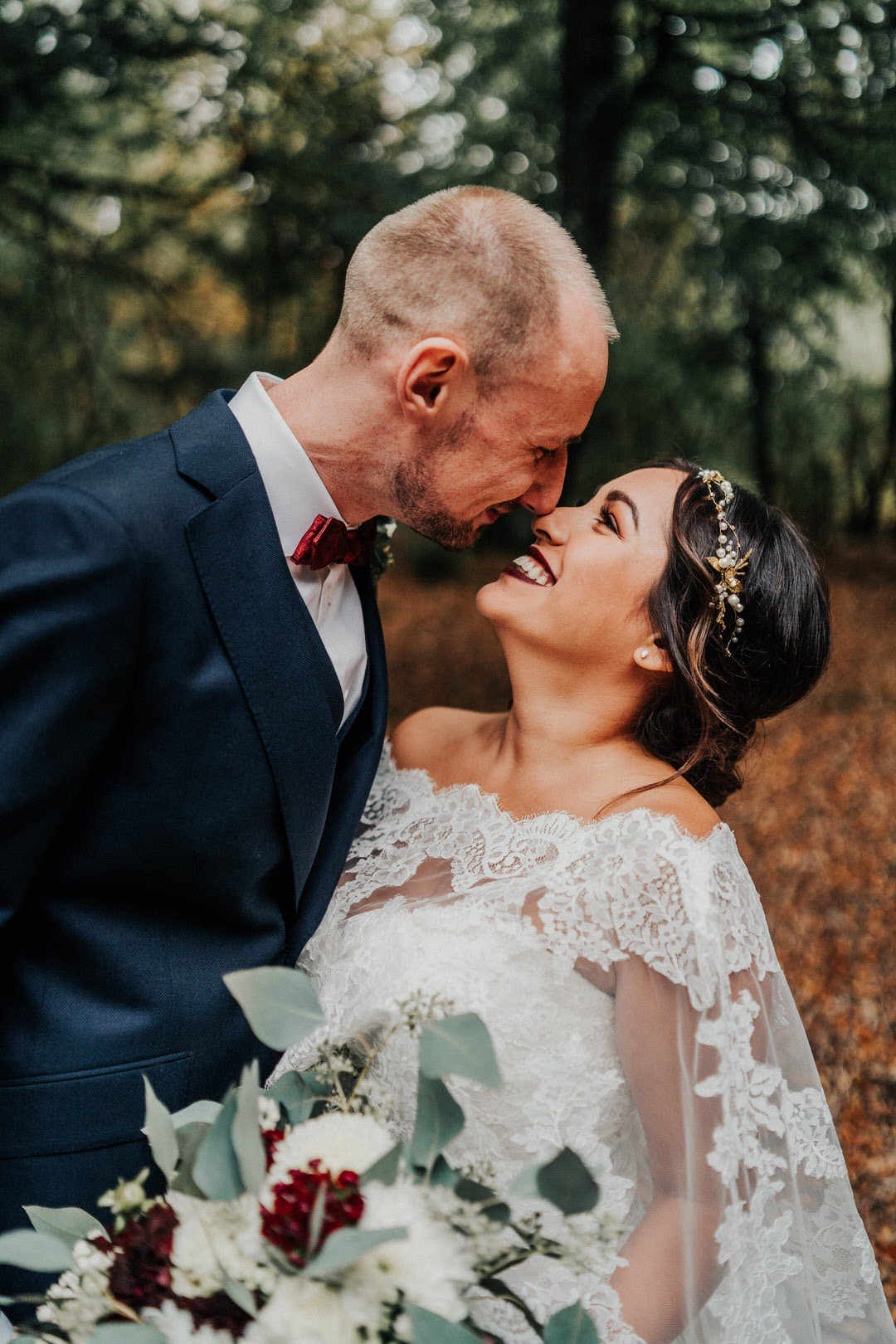 Spaß beim Hochzeits-Paarshooting