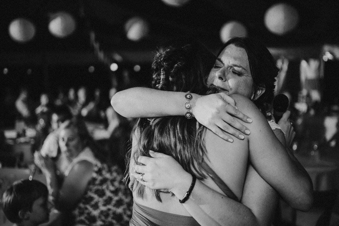 Emotionale Hochzeitsansprache, Braut in Tränen